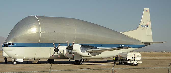 NASA Super Guppy N941NA, Mesa Gateway Airport, October 21, 2016