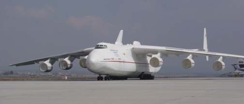 Antonov An-225 Mriya at Stuttgart International Airport, December 24, 2003