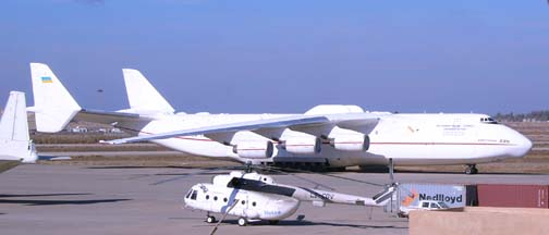 Antonov An-225 Mriya at Baghdad International Airport on January 25, 2005