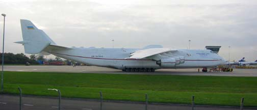 Antonov An-225 Mriya at Nottingham East Midlands Airport, UK on October 11, 2005