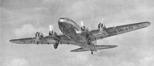 Boeing SA-307B Stratoliner, NX1940 in pre-war service with TWA.