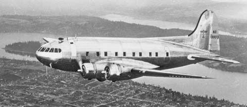 Pan Am Boeing 307 Clipper Flying Cloud, NX19903 during early tests by Boeing at Seattle