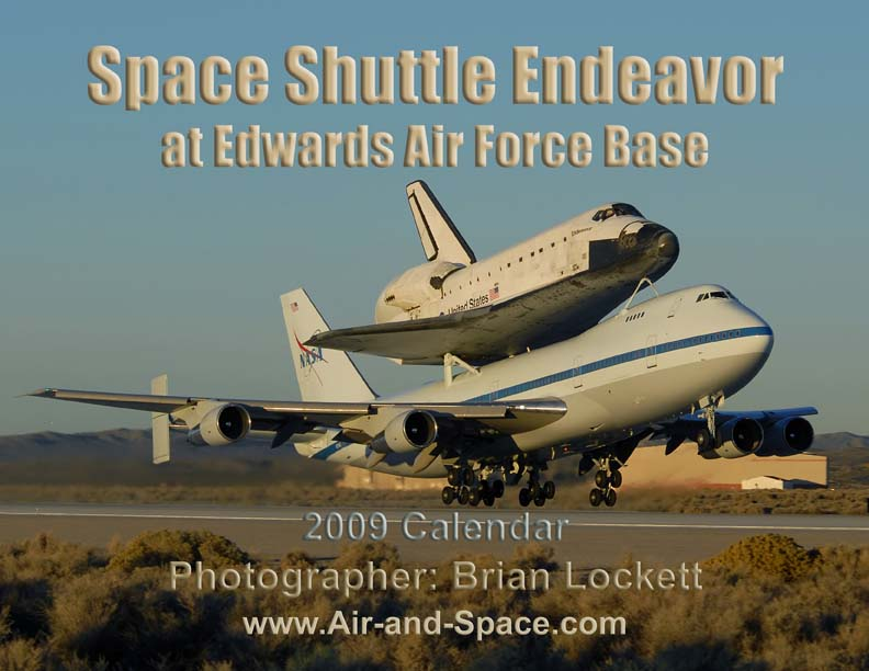 Lockett Books Calendar Catalog: Space Shuttle Endeavor at Edwards Air Force Base