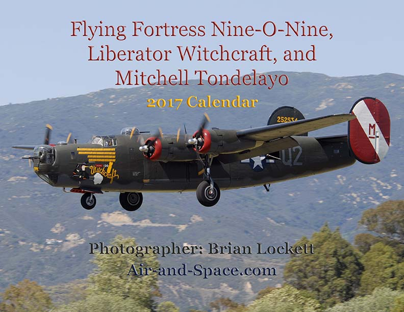 Lockett Books Calendar Catalog: Flying Fortress Nine-O-Nine. Liberator Witchcraft, and Mitchell Tondelayo