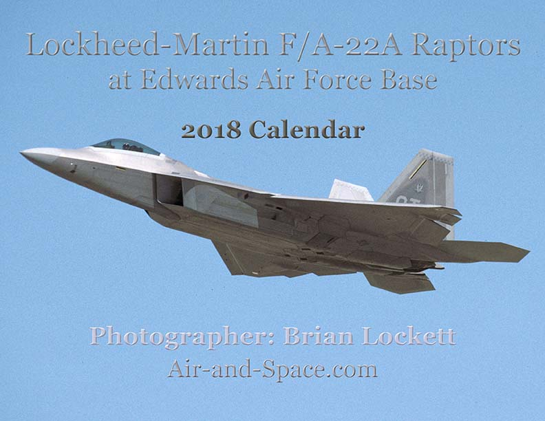 Lockett Books Calendar Catalog: Lockheed-Martin F/A-22A Raptors at Edwards Air Force Base