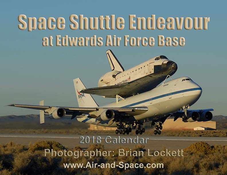 Lockett Books Calendar Catalog: Space Shuttle Endeavour at Edwards Air Force Base