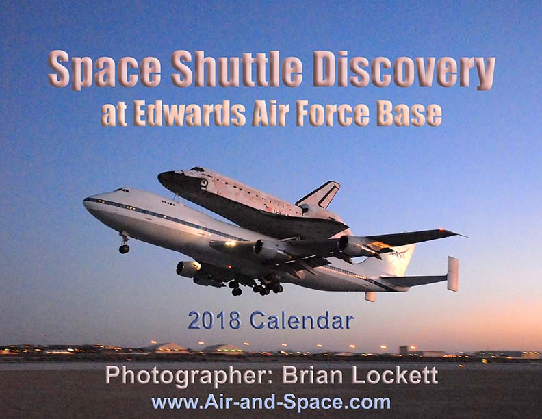 Lockett Books Calendar Catalog: Space Shuttle Discovery at Edwards Air Force Base