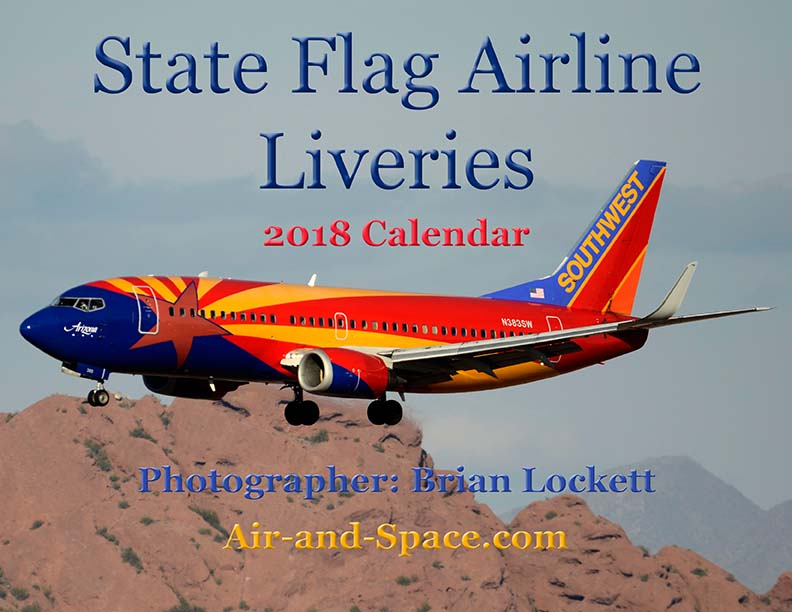 Lockett Books Calendar Catalog: State Flag Airline Liveries