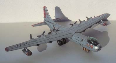 Yonezawa Convair B-36 friction drive, tin litho toy