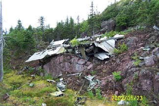 RB-36H-25, 51-13721 wreckage