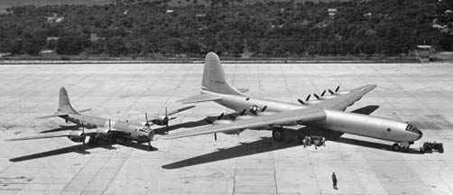 XB-36 compared to B-29