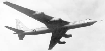 First flight of Convair YB-60, 49-2676