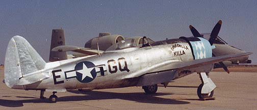 Republic P-47D Thunderbolt, N47DF, Barstow, 1978 or 1979