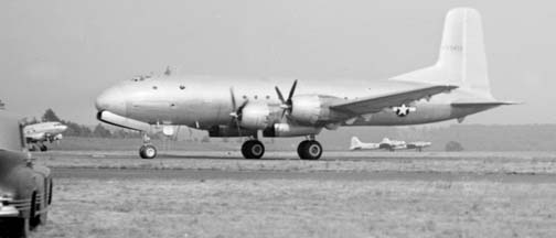 C-74, 42-65402 taxiing at the GEARL in Schenectady, New York on June 21, 1946