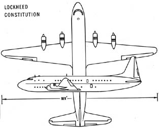 Lockheed R6V Constitution line drawing