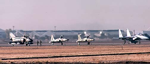 McDonnell-Douglas F-4C Phantom II, two Northrop F-5E Tiger IIs, McDonnell-Douglas TF-15A Eagle, December 17, 1979