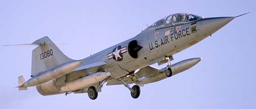 Lockheed TF-104G Starfighter 61-3080, December 18, 1979