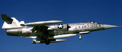 Lockheed F-104G Starfighter 63-13244, December 29, 1981