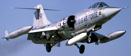 Lockheed F-104G Starfighter 63-13262, December 29, 1981