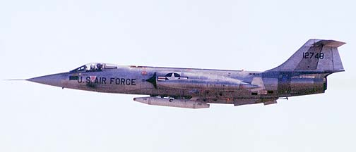 Lockheed F-104G Starfighter 65-12748, December 29, 1981