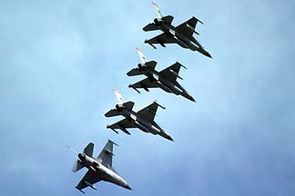 General Dynamics F-16A Fighting Falcons, December 17, 1984