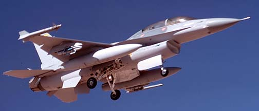 General Dynamics F-16D Fighting Falcon, December 27, 1988