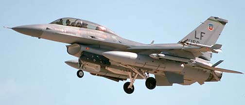 General Dynamics F-16D Block 42A Fighting Falcon 88-0156, March 14, 1990