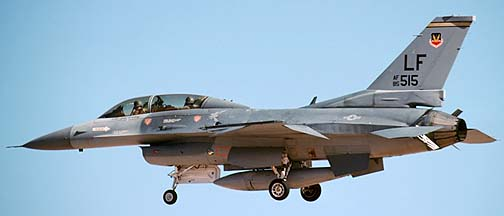 General Dynamics F-16D Block 25F Fighting Falcon 85-1515, March 14, 1990
