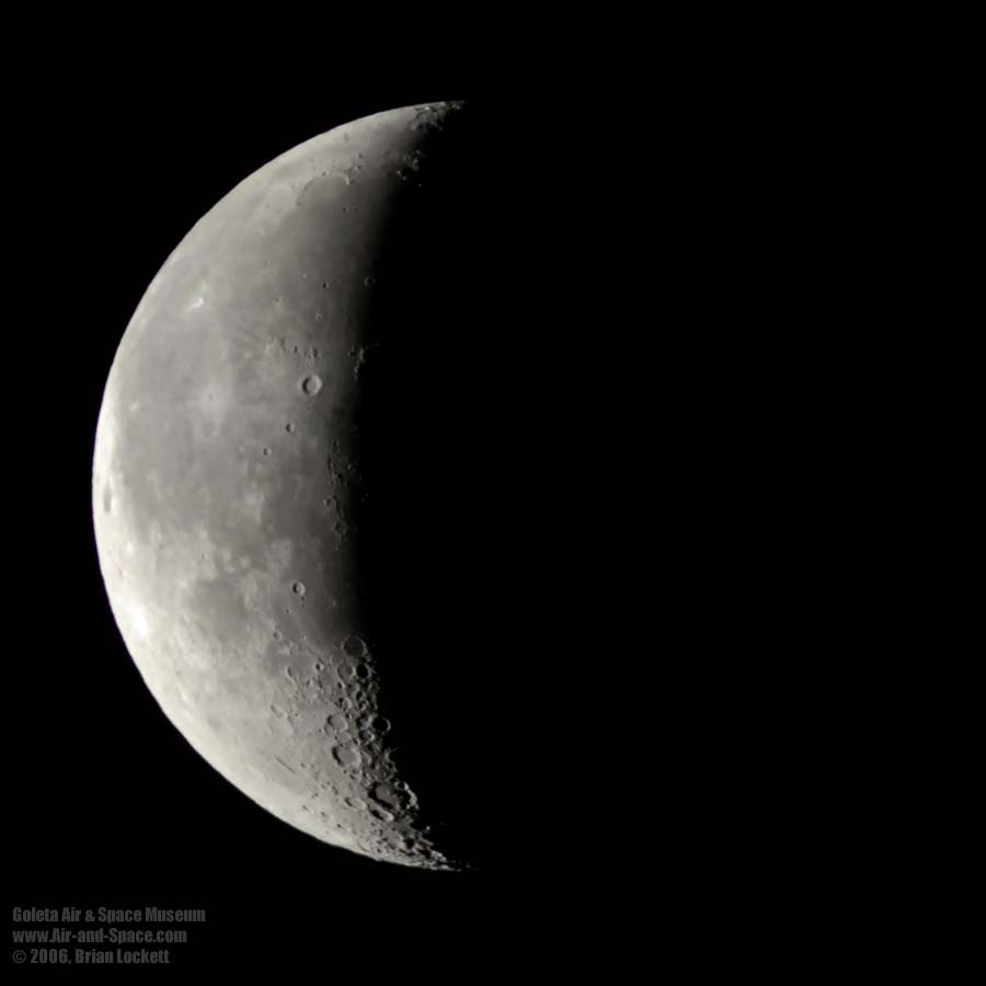 What does a waxing crescent moon look like