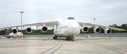 Antonov An-225 Mriya at Bush Intercontinental Airport, Houston, Texas in October 2005