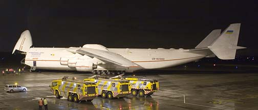 Antonov An-225 Mriya at Nottingham East Midlands Airport, UK on November 30, 2005