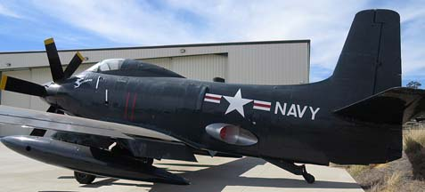 Douglas A2D Skyshark, San Diego Air and Space Museum Annex at Gillespie Field, July 11, 2014