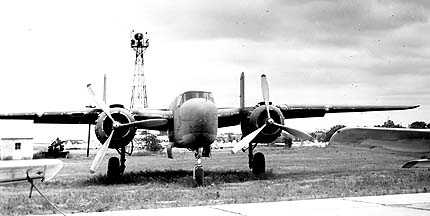 B-25H 43-4106 at Searcy Field, Stillwater, Oklahoma in 1946