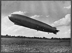 Zeppelins LZ-126, ZR-3 Los Angeles and LZ-127 Graf Zeppelin