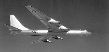 Convair YB-60 in flight over the Mojave Desert