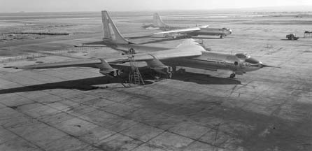 Convair YB-60 on Edwards Air Force Base flightline in January 1953