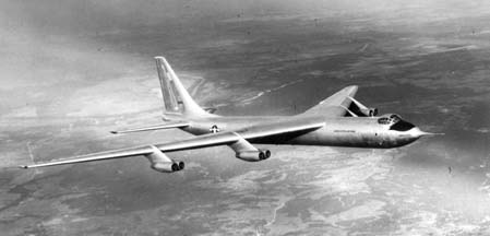 Convair YB-60, 49-2676  in flight over Texas