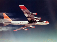 NB-52A carrying the X-15-1 on April 13, 1960