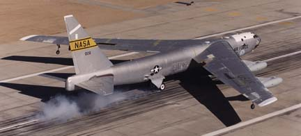 NB-52B landing after launching the X-38 on November 2, 2000