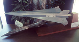 Delta-winged X-15 wind tunnel model