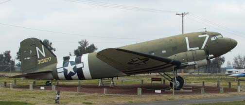 C-47A 43-15977, Castle Air Force Base Museum, January 21, 2006
