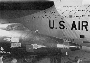 NB-52A with X-15 mission marks