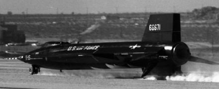 X-15-2 lands after flight with XLR-99 engine