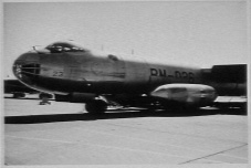 B-36 with spare engine pods