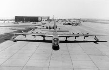 Featherweight B-36 on the Edwards AFB flightline
