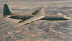 XB-36 in flight