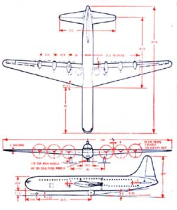 Convair Model 37 3-view