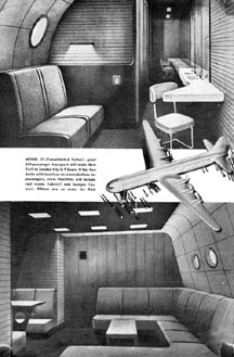 Convair Model 37 interiors