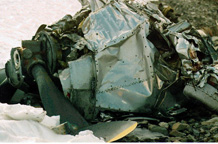 B-36 engine wreckage