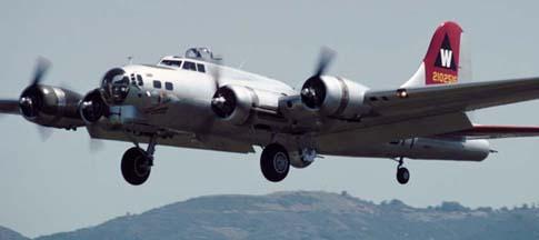 B-17G, N5017N Aluminum Overcast visited Santa Barbara in May 1998 and April 2001